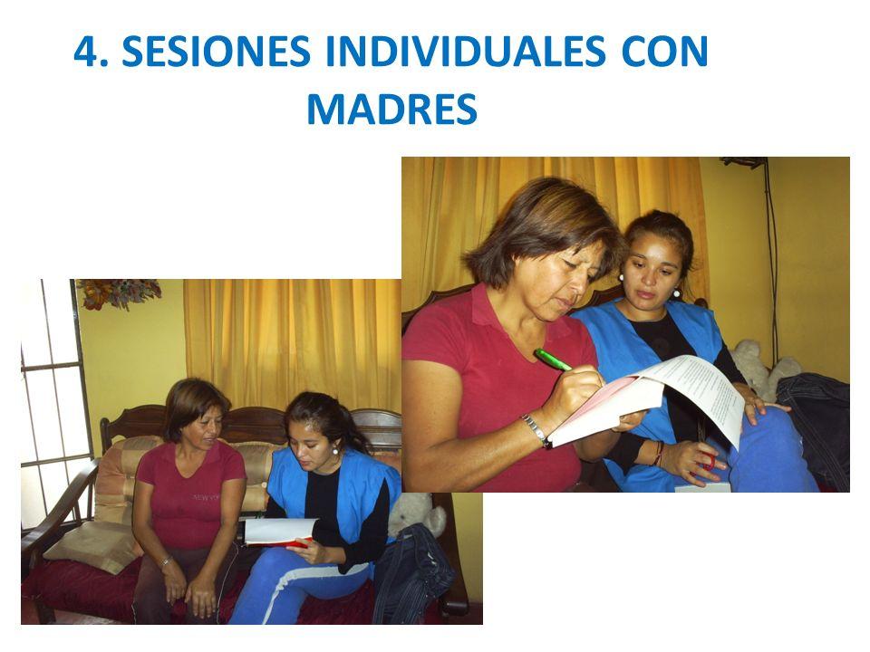 4. SESIONES INDIVIDUALES CON MADRES