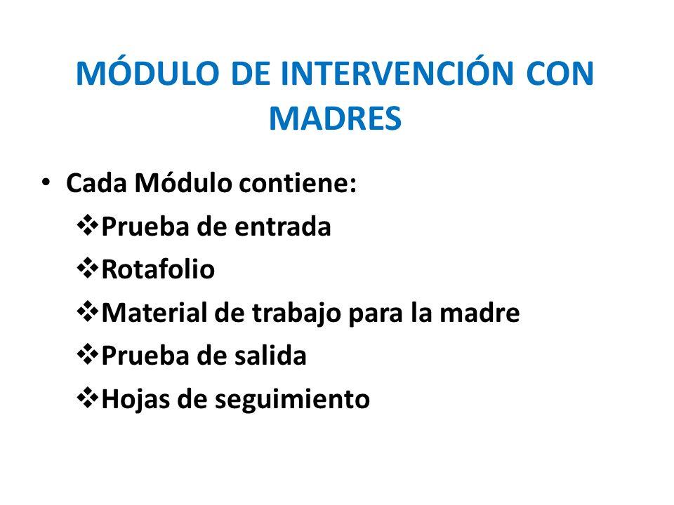 MÓDULO DE INTERVENCIÓN CON MADRES