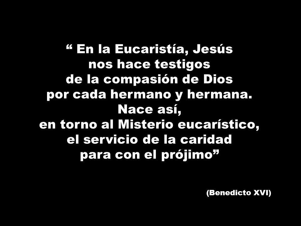 En la Eucaristía, Jesús nos hace testigos de la compasión de Dios