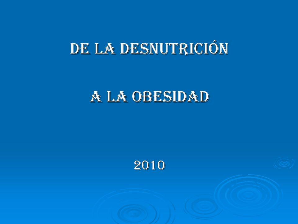 DE LA DESNUTRICIÓN A LA OBESIDAD 2010