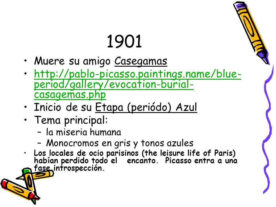1901 Muere su amigo Casegamas