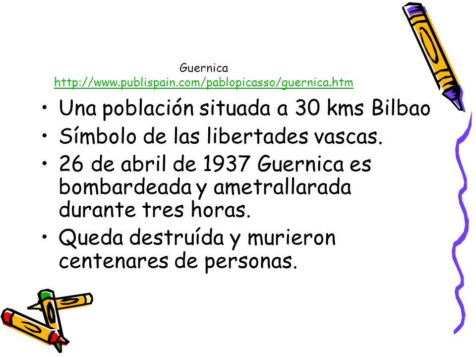 Guernica http://www.publispain.com/pablopicasso/guernica.htm