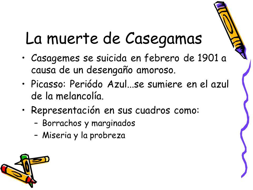 La muerte de Casegamas Casagemes se suicida en febrero de 1901 a causa de un desengaño amoroso.