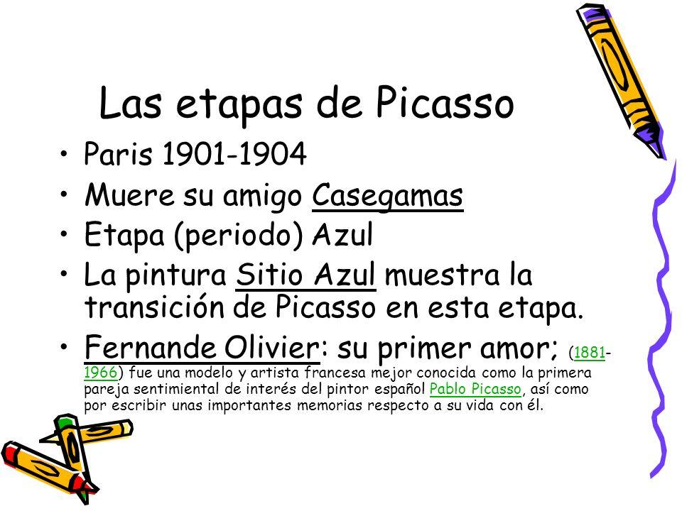 Las etapas de Picasso Paris 1901-1904 Muere su amigo Casegamas