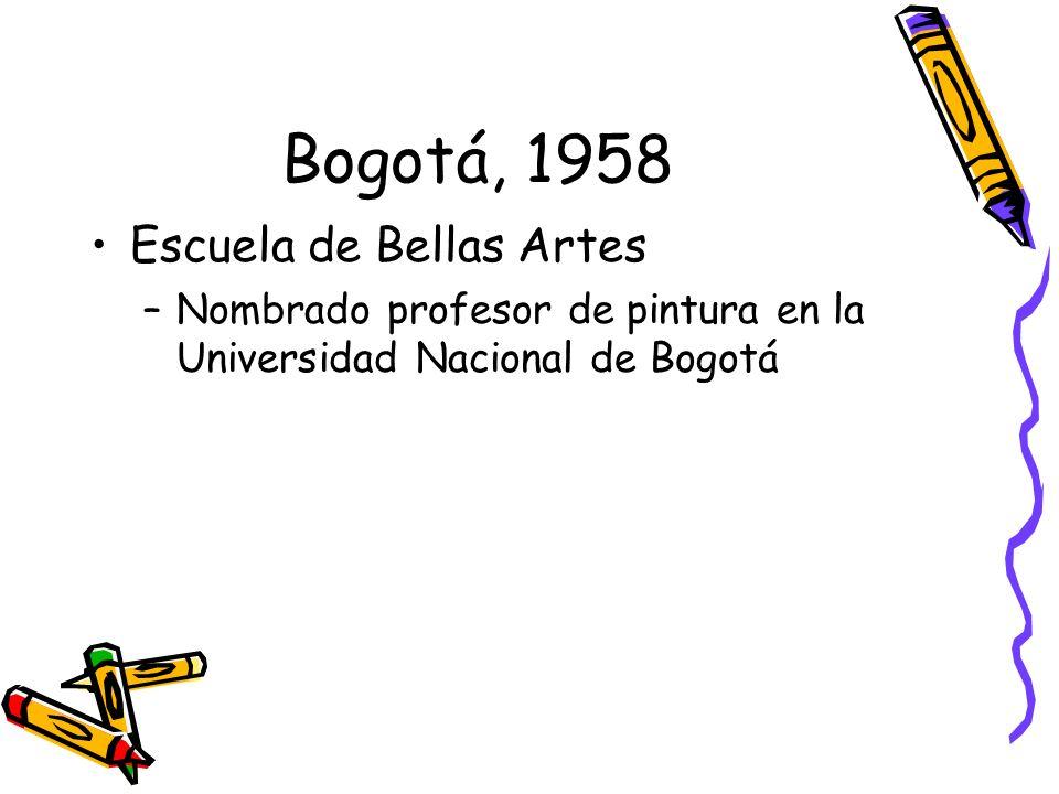 Bogotá, 1958 Escuela de Bellas Artes
