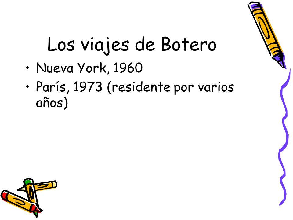 Los viajes de Botero Nueva York, 1960