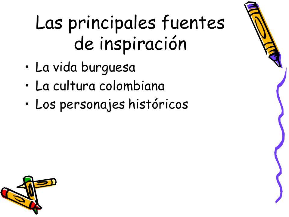 Las principales fuentes de inspiración
