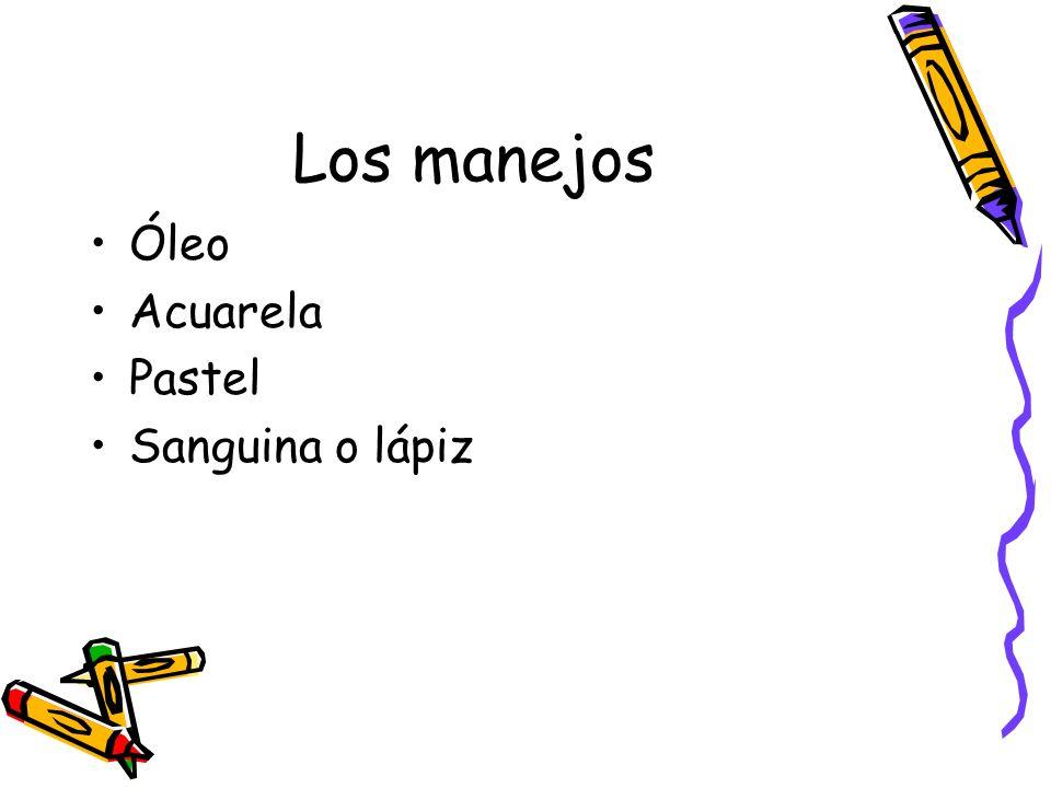Los manejos Óleo Acuarela Pastel Sanguina o lápiz