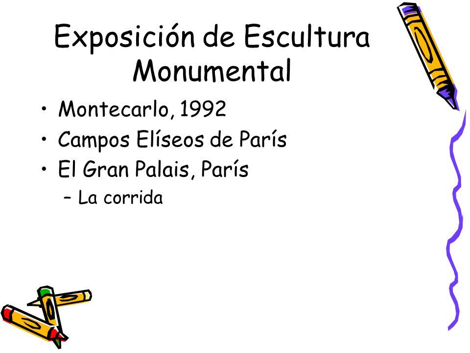 Exposición de Escultura Monumental