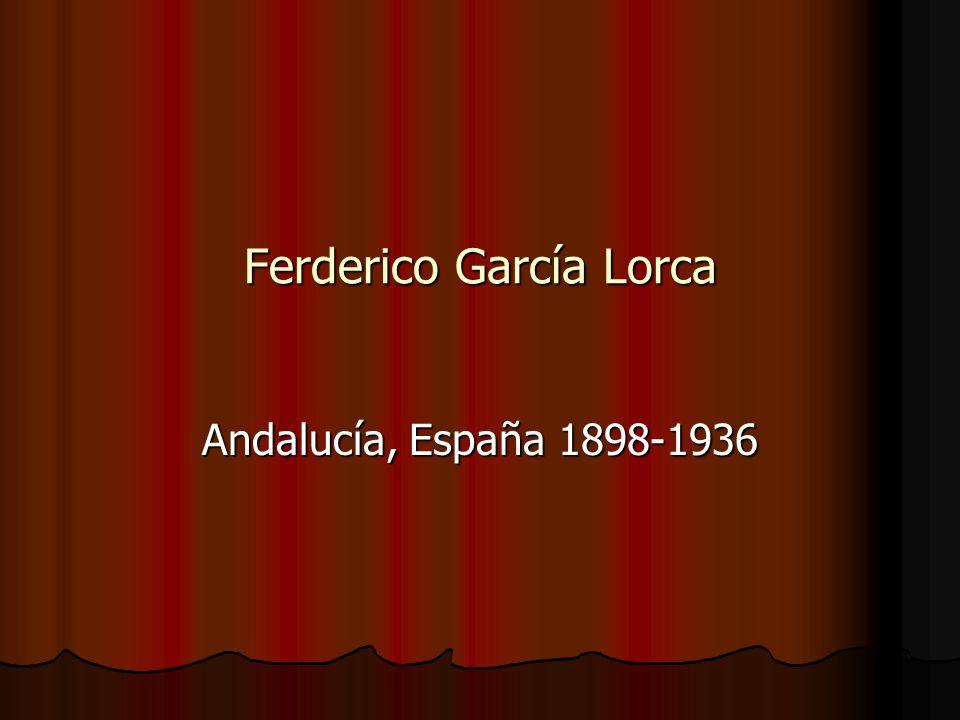 Ferderico García Lorca