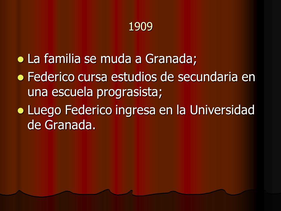 La familia se muda a Granada;