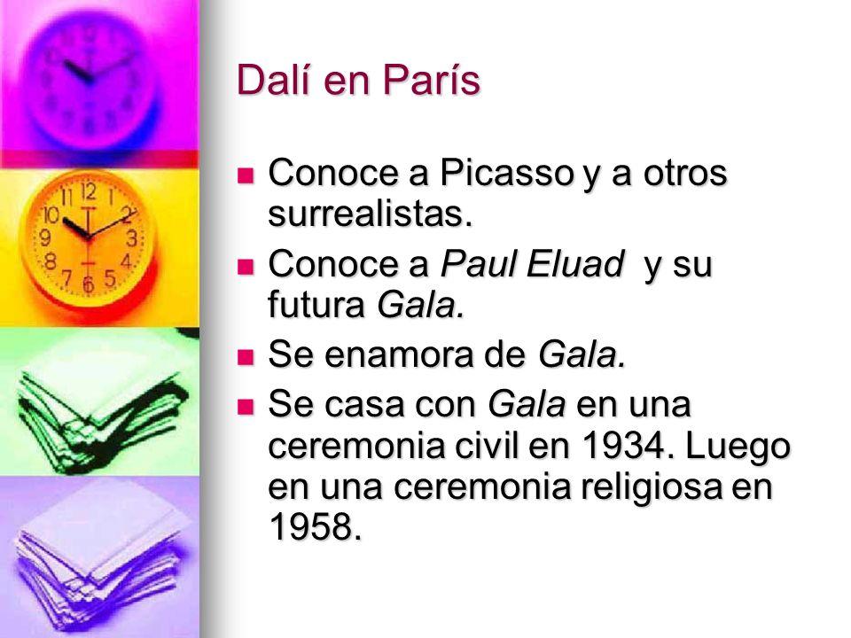 Dalí en París Conoce a Picasso y a otros surrealistas.