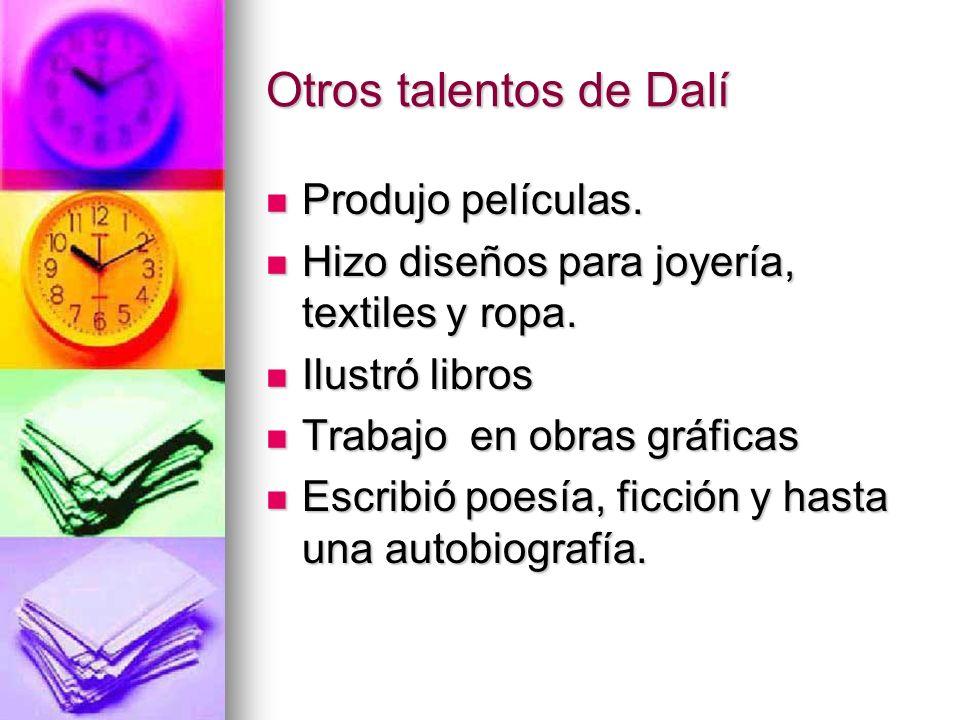 Otros talentos de Dalí Produjo películas.