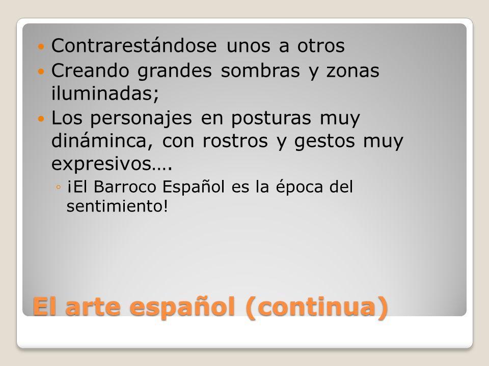 El arte español (continua)