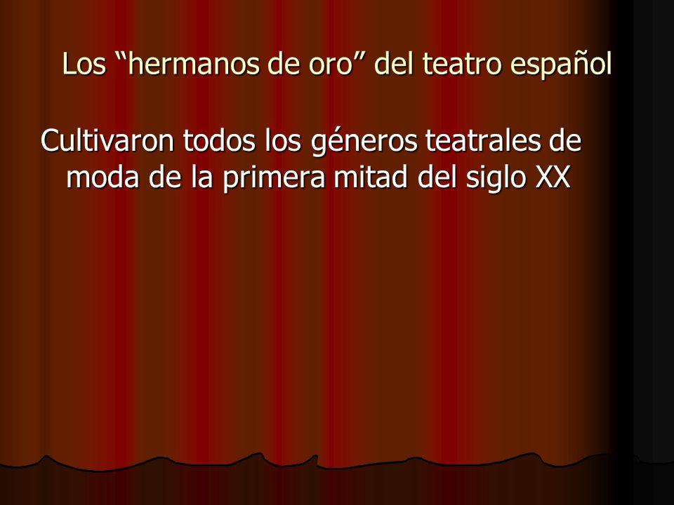 Los hermanos de oro del teatro español
