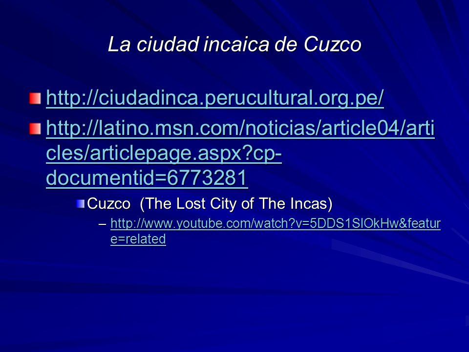 La ciudad incaica de Cuzco