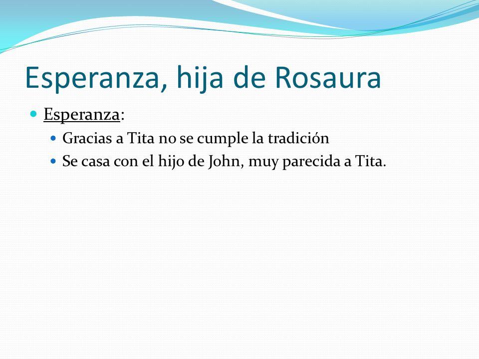Esperanza, hija de Rosaura