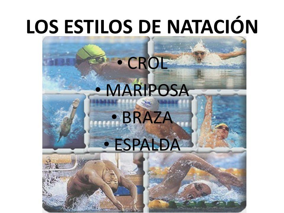 LOS ESTILOS DE NATACIÓN
