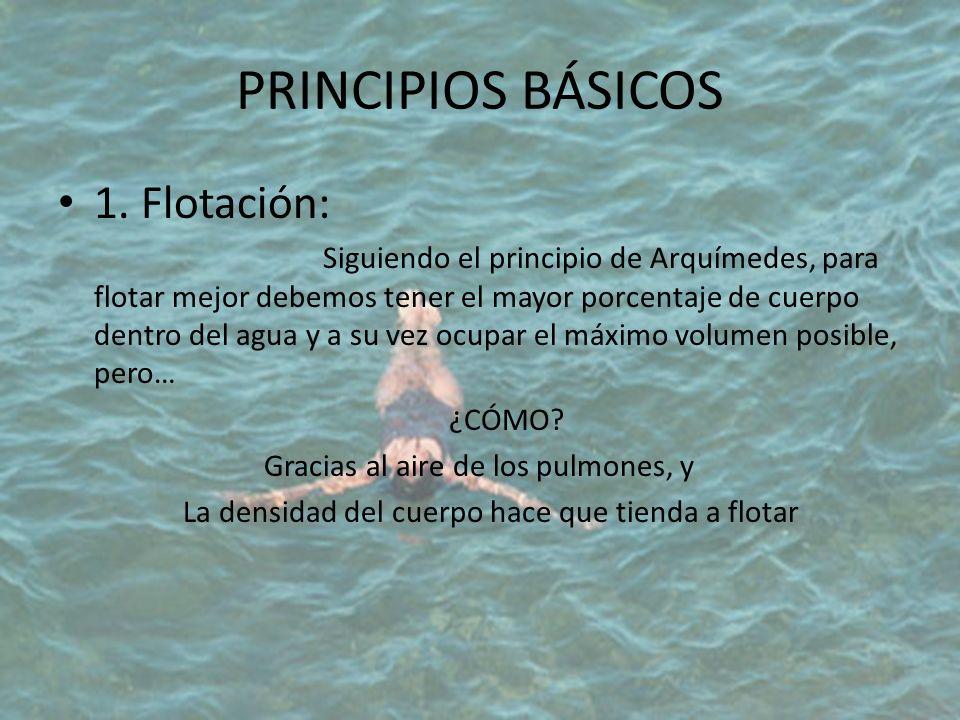 PRINCIPIOS BÁSICOS 1. Flotación: ¿CÓMO