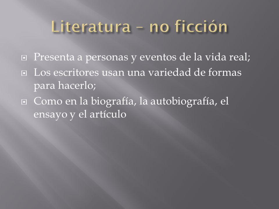 Literatura – no ficción
