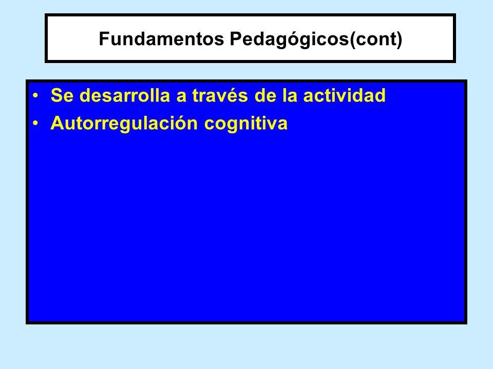 Fundamentos Pedagógicos(cont)