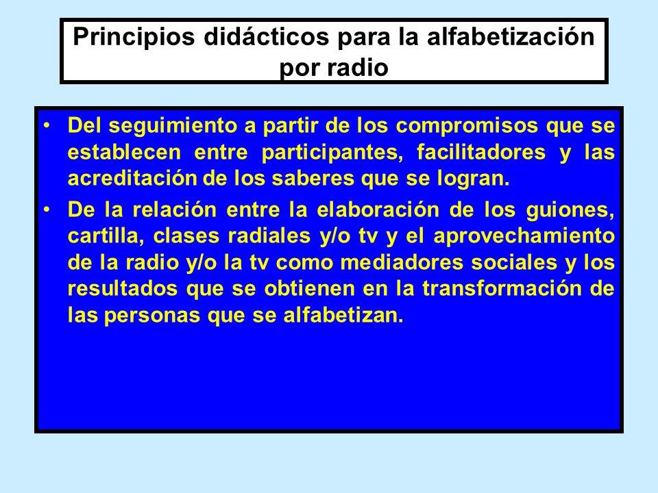 Principios didácticos para la alfabetización por radio