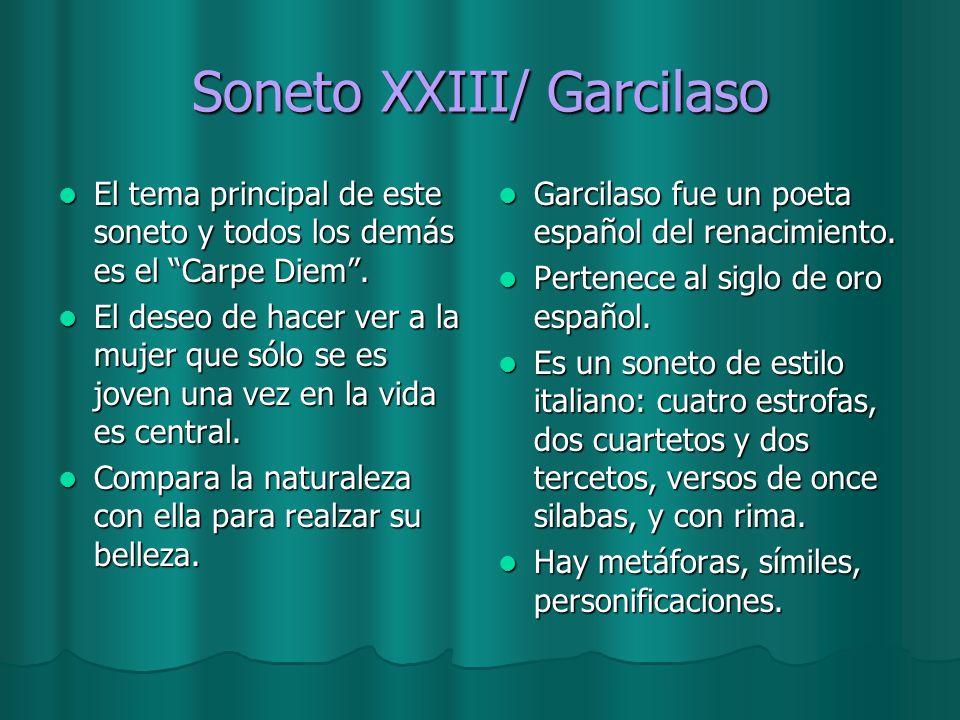 Soneto XXIII/ Garcilaso