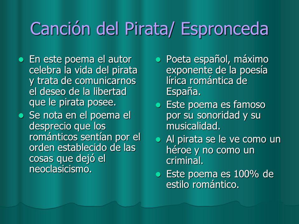 Canción del Pirata/ Espronceda