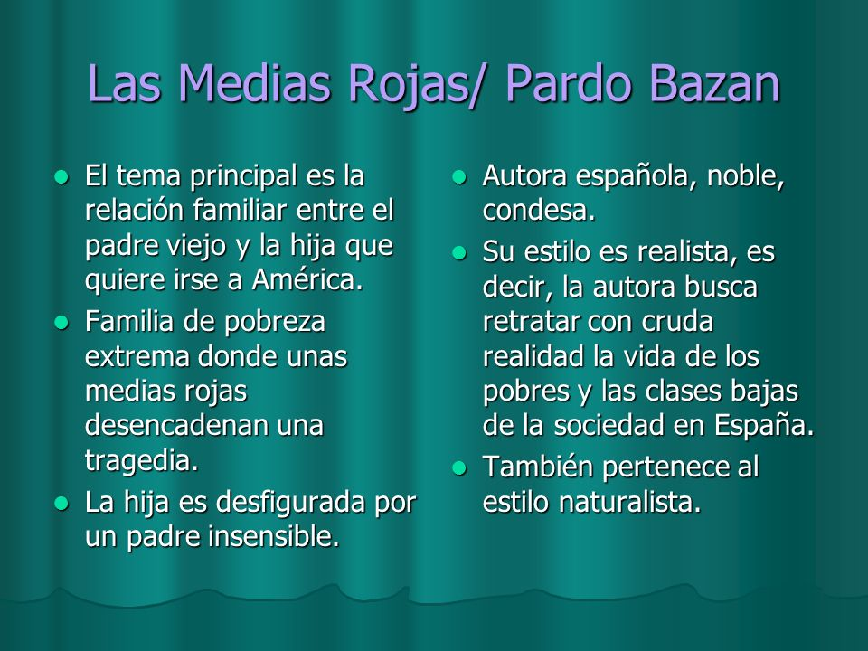 Las Medias Rojas/ Pardo Bazan