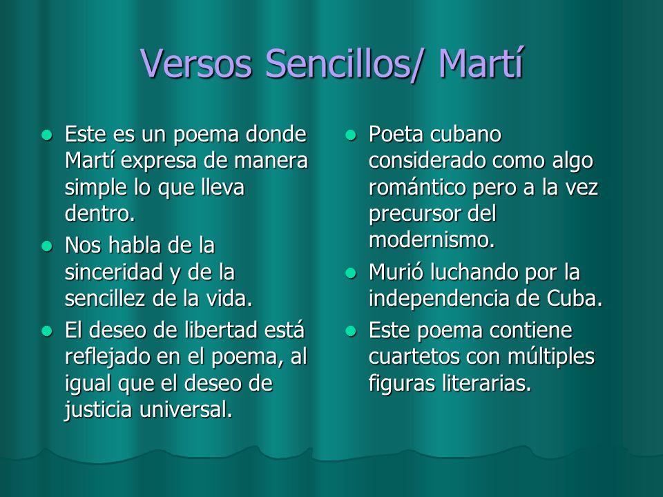 Versos Sencillos/ Martí