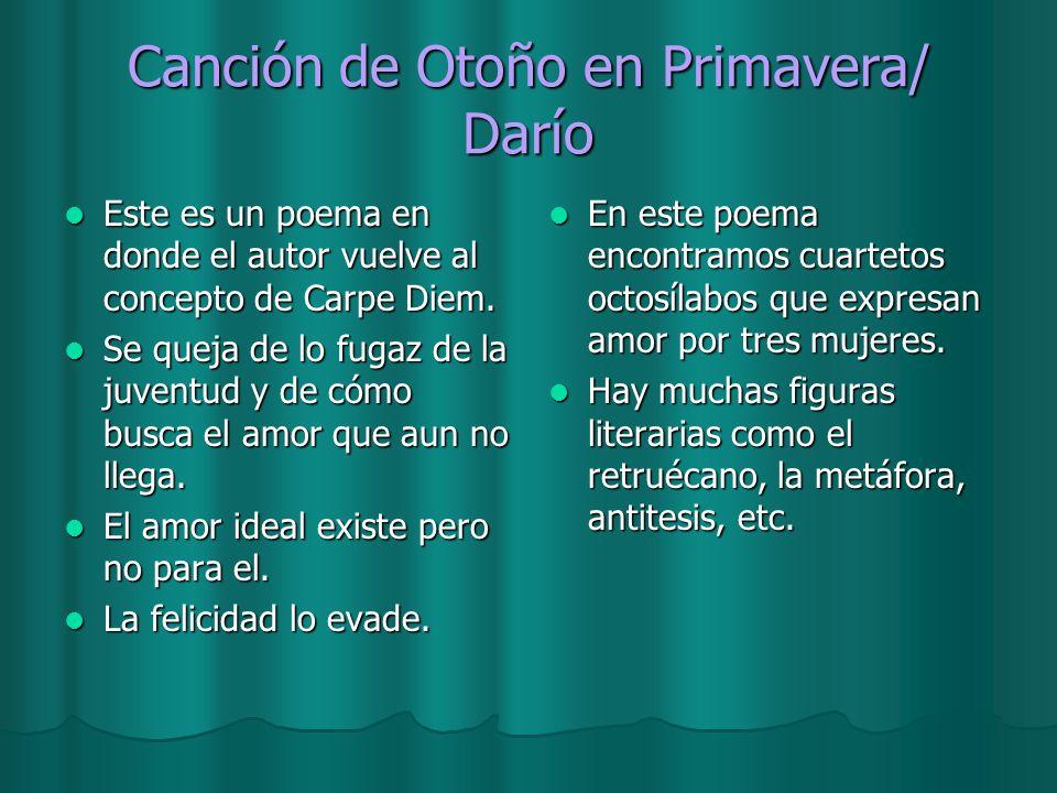 Canción de Otoño en Primavera/ Darío