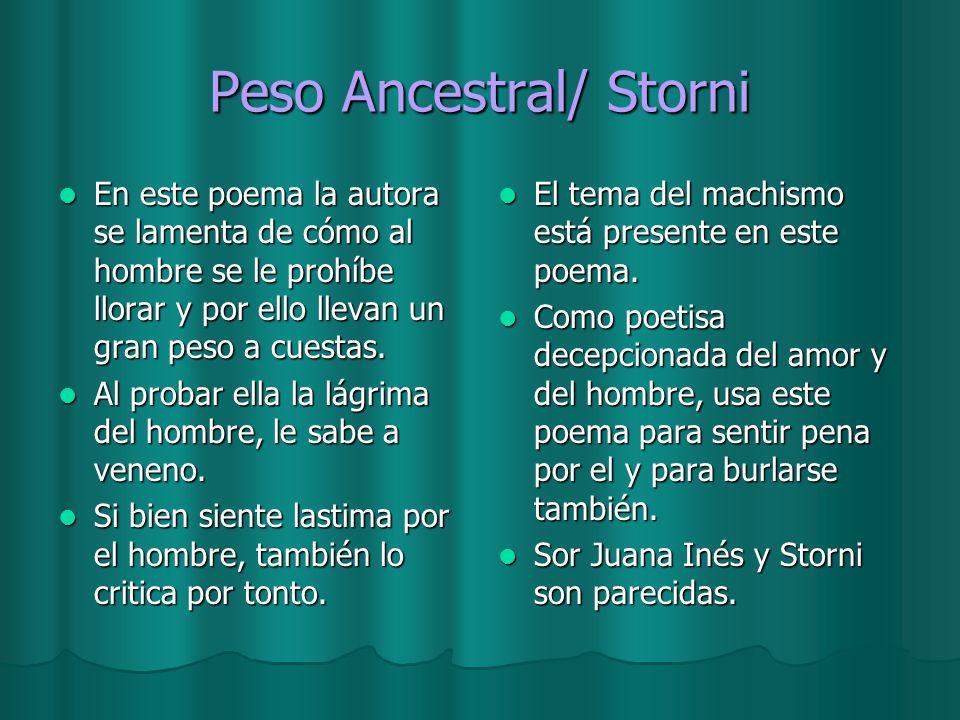 Peso Ancestral/ Storni
