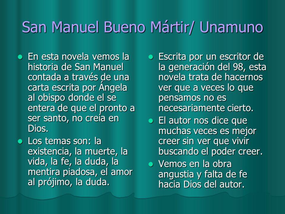 San Manuel Bueno Mártir/ Unamuno