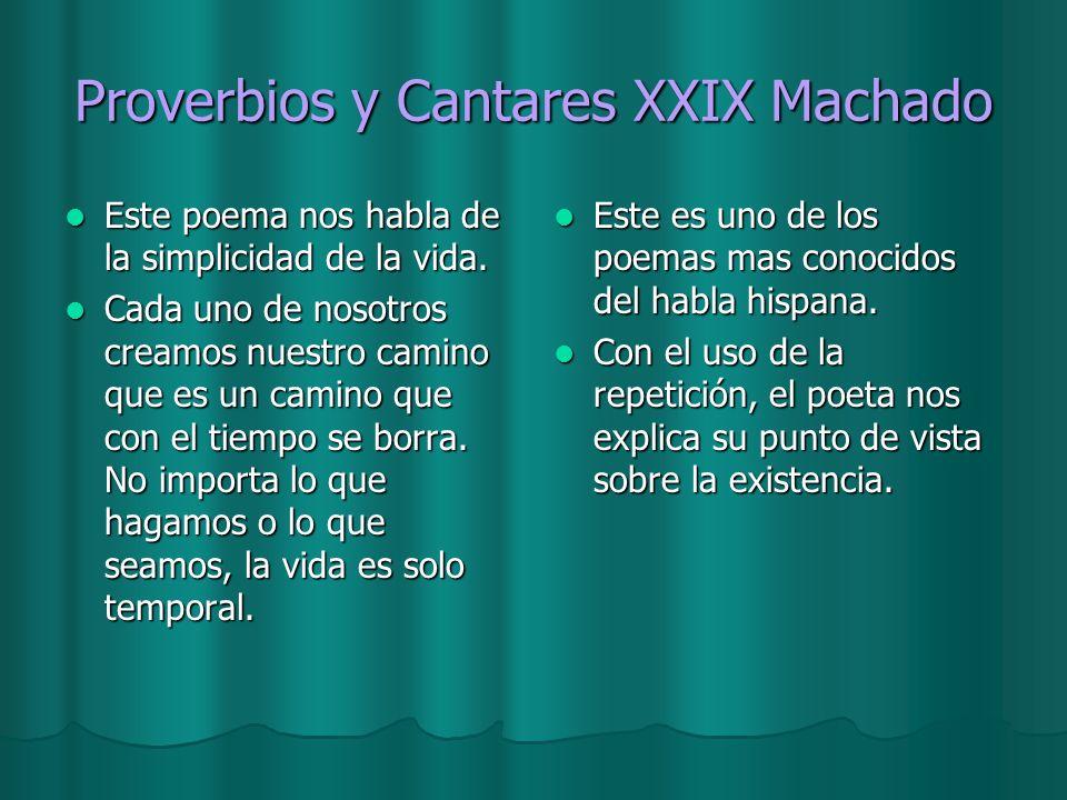 Proverbios y Cantares XXIX Machado