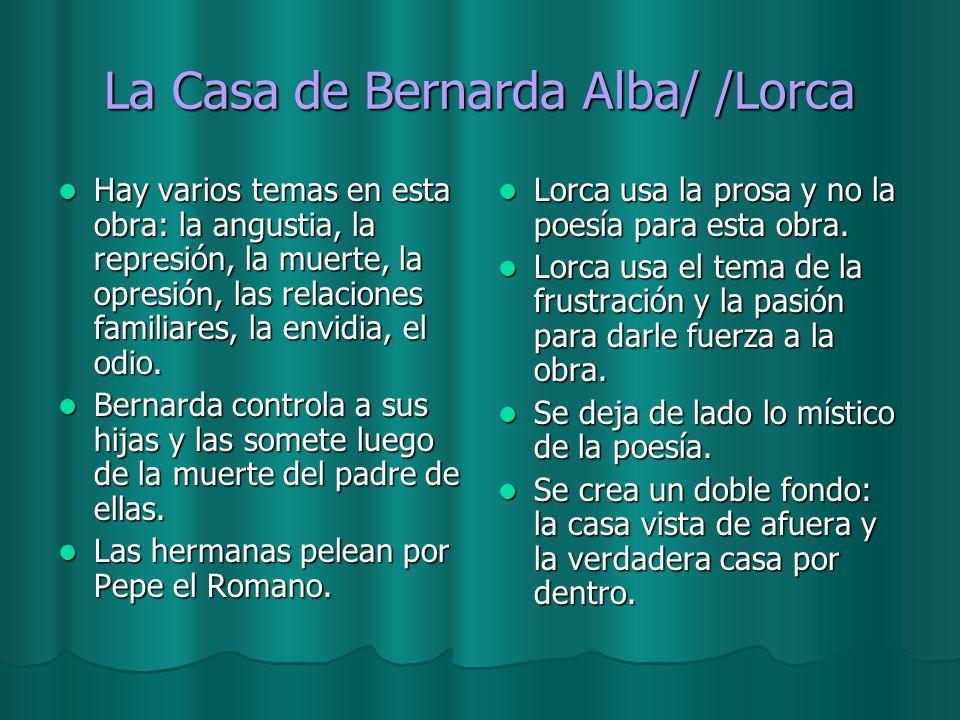 La Casa de Bernarda Alba/ /Lorca