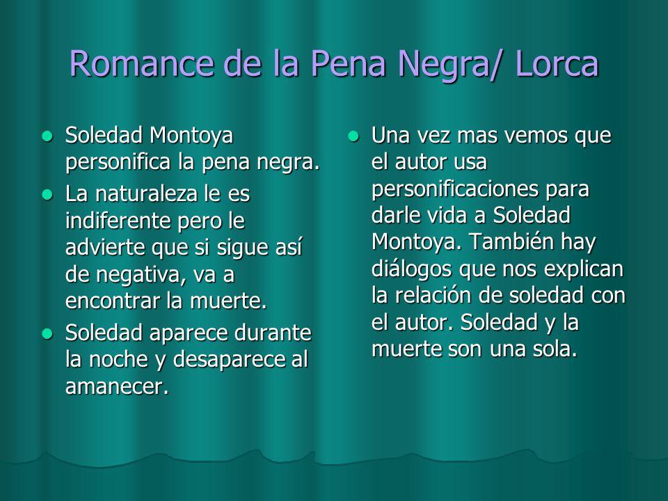 Romance de la Pena Negra/ Lorca