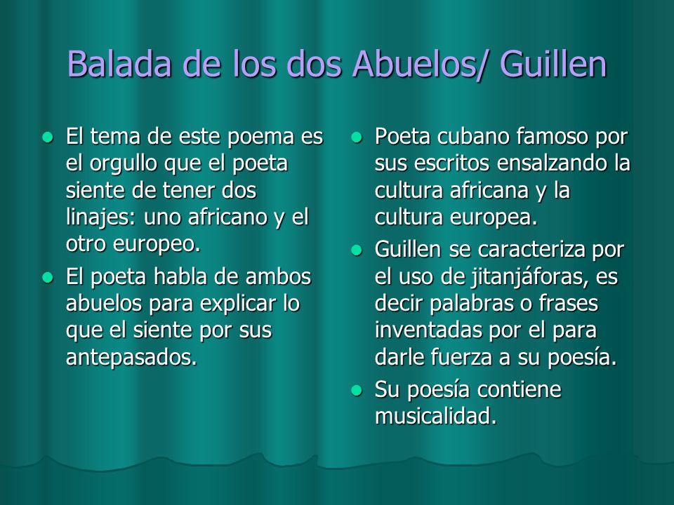 Balada de los dos Abuelos/ Guillen