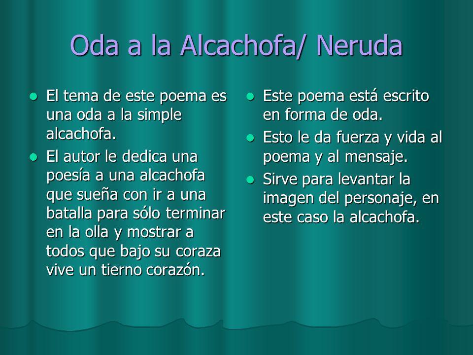 Oda a la Alcachofa/ Neruda