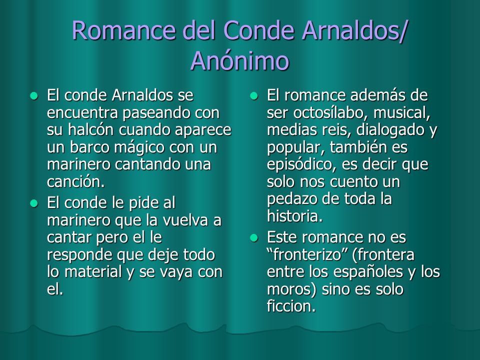 Romance del Conde Arnaldos/ Anónimo