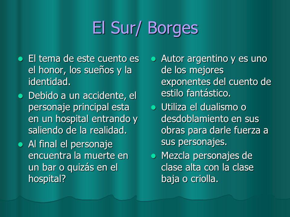 El Sur/ Borges El tema de este cuento es el honor, los sueños y la identidad.