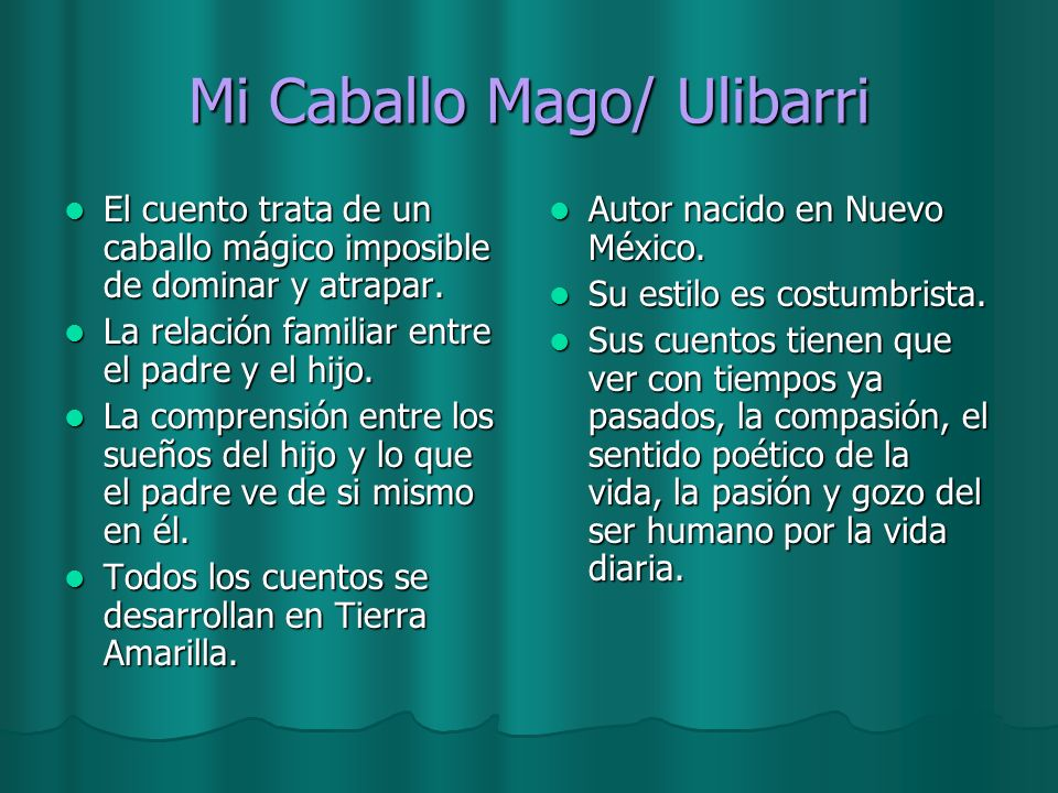 Mi Caballo Mago/ Ulibarri