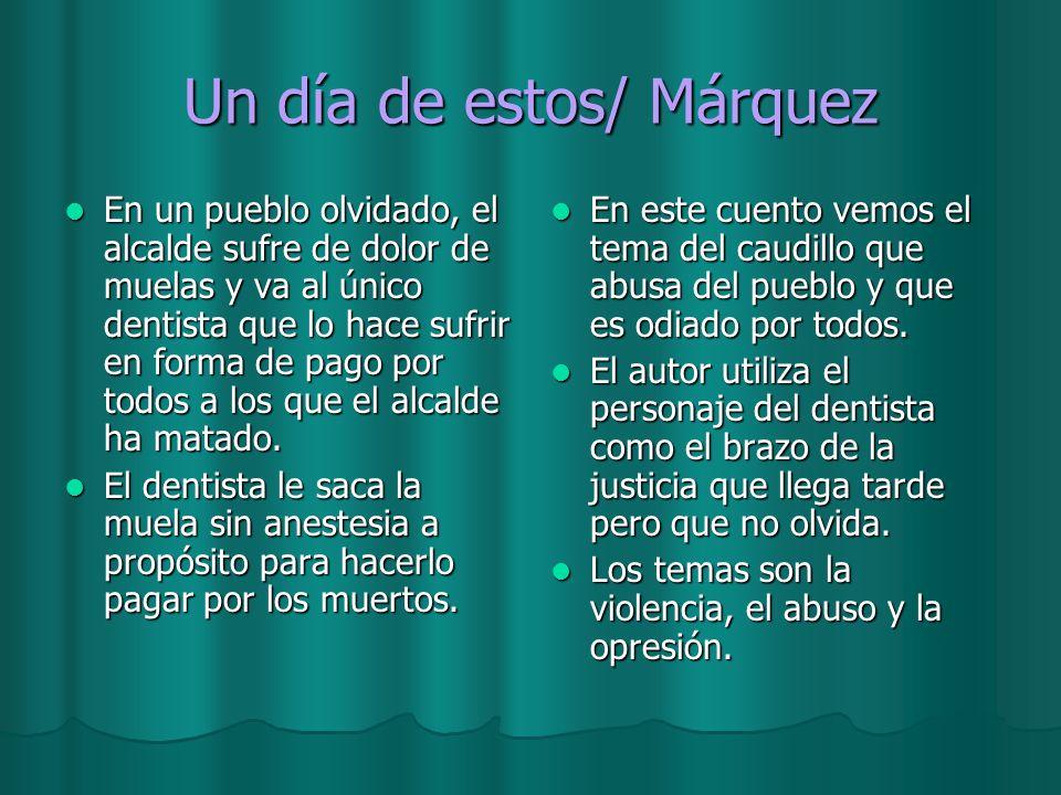 Un día de estos/ Márquez