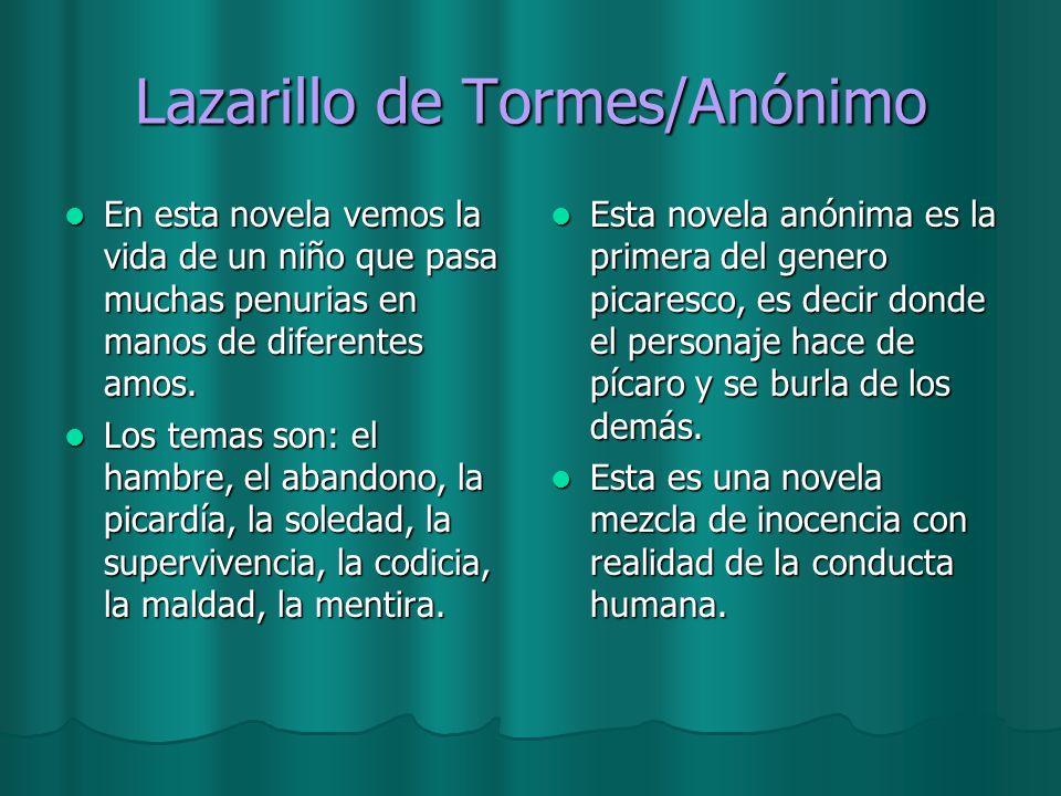Lazarillo de Tormes/Anónimo