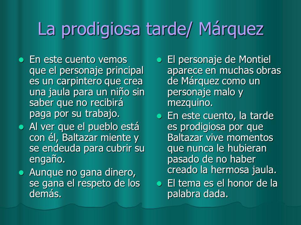 La prodigiosa tarde/ Márquez