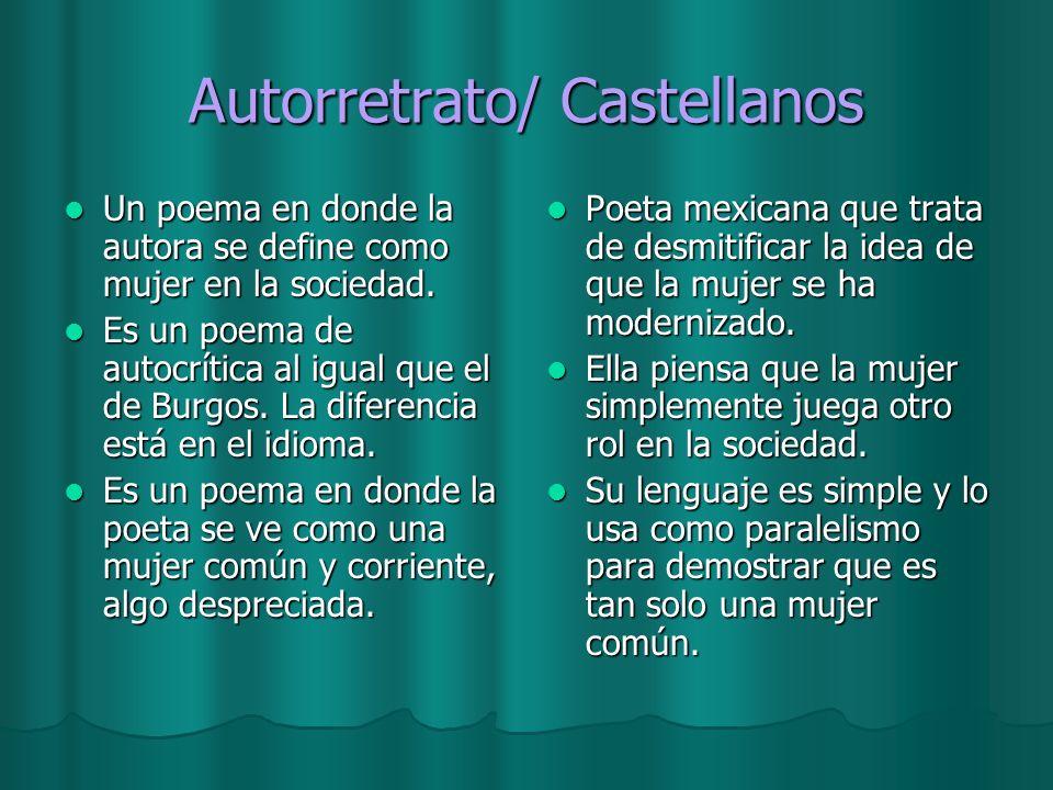 Autorretrato/ Castellanos