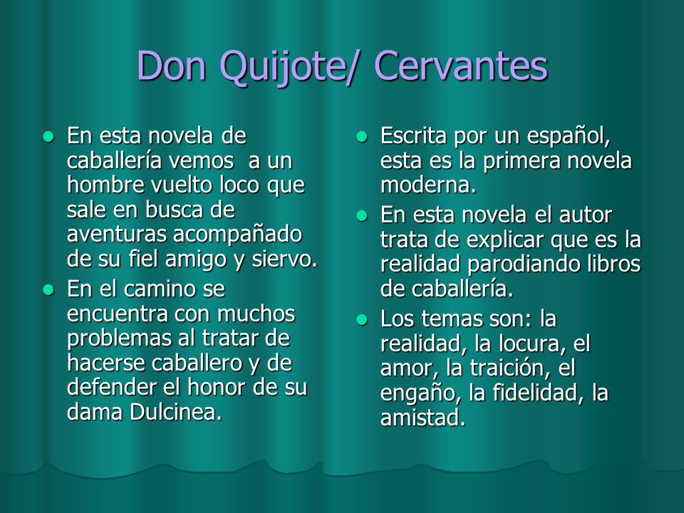 Don Quijote/ Cervantes