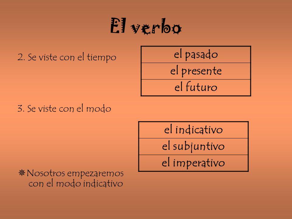 El verbo el pasado el presente el futuro el indicativo el subjuntivo