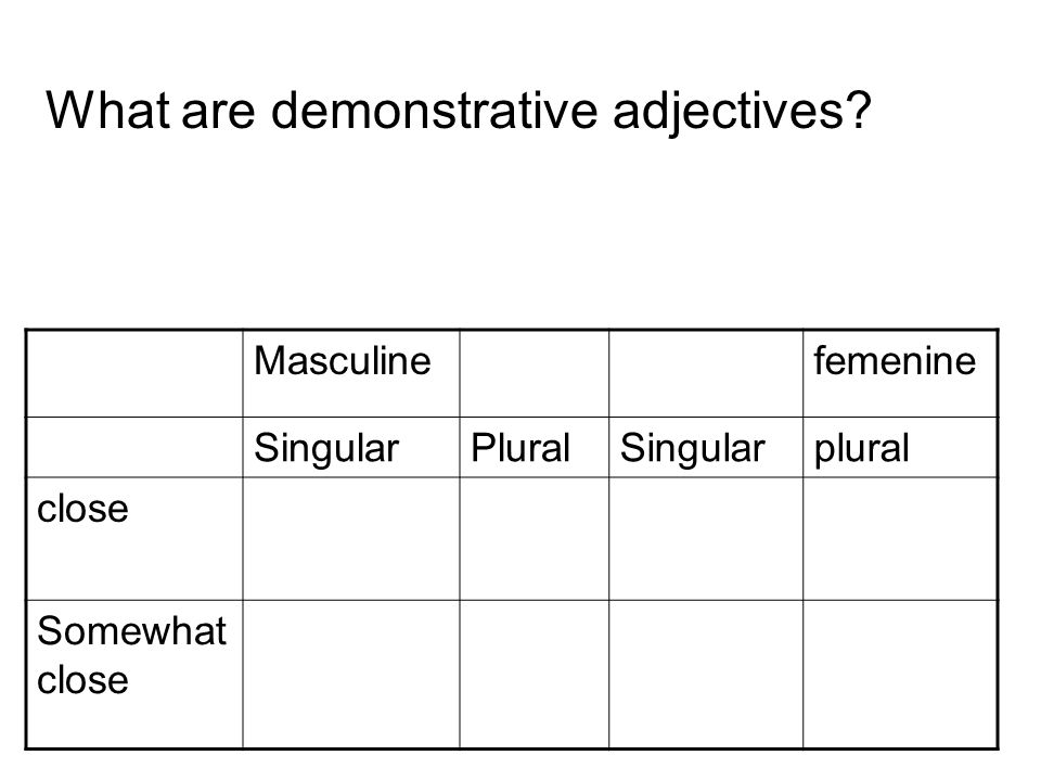 What are demonstrative adjectives