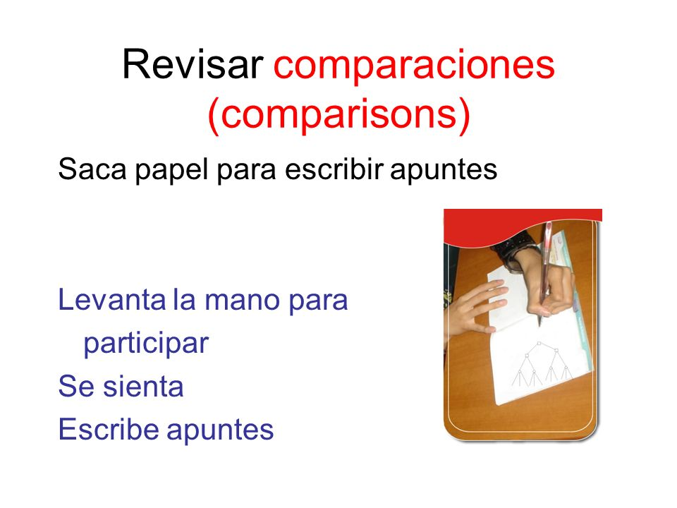 Revisar comparaciones (comparisons)
