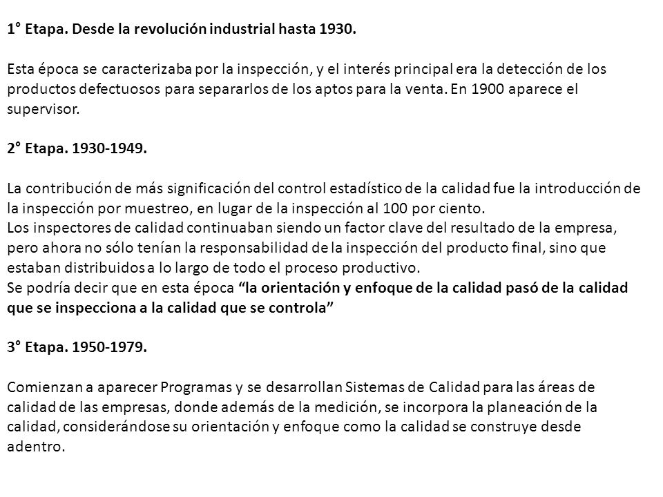 1° Etapa. Desde la revolución industrial hasta 1930.